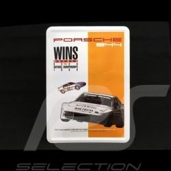 Postkarte Porsche aus Metall mit Umschlag Porsche 944 turbo SCCA 1988