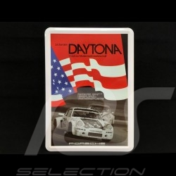Postcard Porsche metal with envelope Porsche 911 RSR 24h Daytona