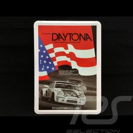 Postkarte Porsche aus Metall mit Umschlag Porsche 911 RSR 24h Daytona