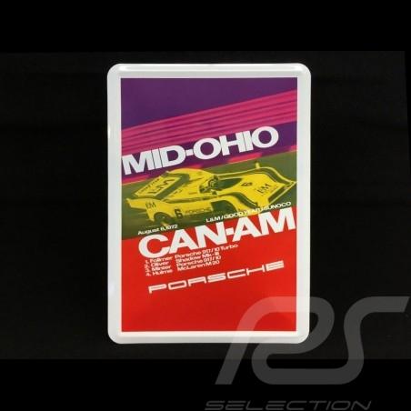 Carte postale Postcard Postkarte Porsche métal avec enveloppe Porsche  917 Mid-Ohio Can-Am 1972