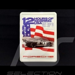 Postcard Porsche metal with envelope Porsche 917 12h Sebring 1971