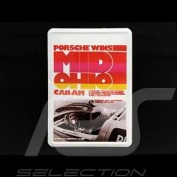 Postkarte Porsche aus Metall mit Umschlag Porsche 917 Donohue Mid-Ohio Can Am