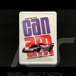 Carte postale Postcard Postkarte Porsche métal avec enveloppe Porsche 956 Can-Am 1983