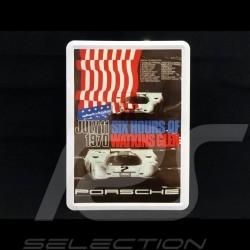 Postkarte Porsche aus Metall mit Umschlag Porsche 917 Gulf 6h Watkins Glen 1970