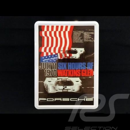Carte postale Postcard Postkarte Porsche métal avec enveloppe Porsche 917 Gulf 6h Watkins Glen 1970