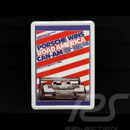 Carte postale Postcard Postkarte Porsche métal avec enveloppe Porsche 917 Donohue Road America