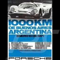 Porsche Poster 917 Gulf 1000 km de Buenos Aires Argentina 1971 - 83