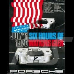 Porsche Poster Affiche Plakat 917 Gulf vainqueur winner Sieger 6h Watking Glen 1970 - 82