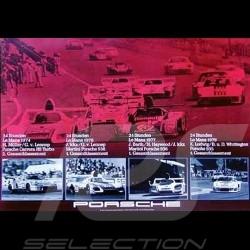Porsche Poster 4 Le Mans Siege 1974 1976 1977 1979 - 82