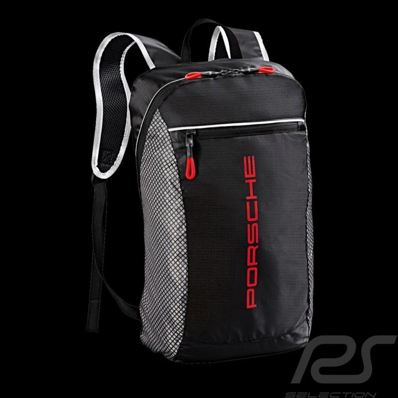 porsche backpack ultra lightweight racing look black grey. Black Bedroom Furniture Sets. Home Design Ideas