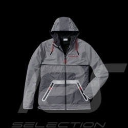 Porsche Jacket windbreaker  Racing Collection grey black red WAP454  - unisex