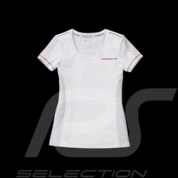 T-shirt Porsche Racing Collection blanc / gris Porsche Design WAP452 - femme woman damen