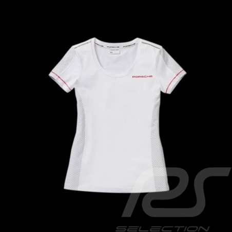 T-shirt Porsche Racing Collection blanc / gris Porsche WAP452 - femme woman damen