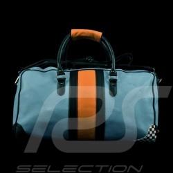 Tasche Gulf Reisetasche Leder blau / orange / schwarz