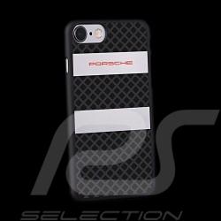 Porsche housse case tasche i-phone 7 polycarbonate noir argent black silver schwarz silber WAP0504570H