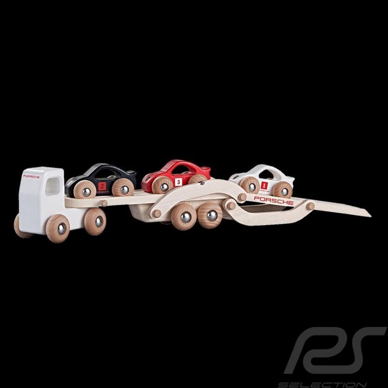 porsche camion porte voitures en bois avec 3 voitures porsche design wap0400100h selection rs. Black Bedroom Furniture Sets. Home Design Ideas