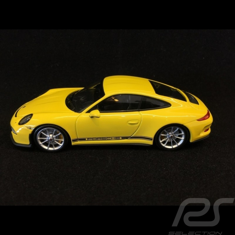 Porsche 911 R type 991 2016 jaune racing yellow racinggelb 1/43 Minichamps CA04316095