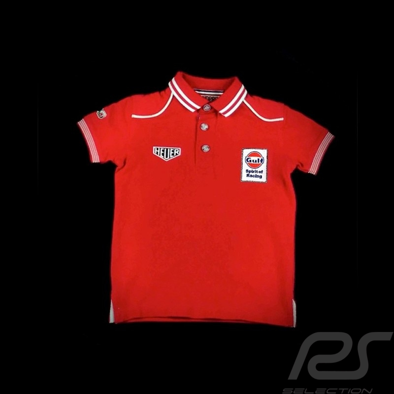 Polo Gulf Spirit of Racing rouge red rot - enfant kids Kinder shirt