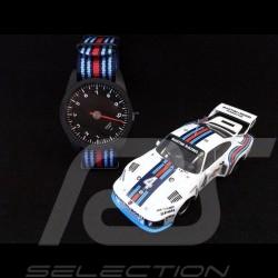 Montre Watch Uhr Porsche 911 compte-tours 10000 trm mono-aiguille tricolore bleu rouge