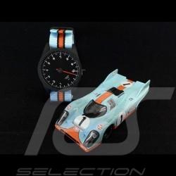 Montre Watch Uhr Porsche 911 compte-tours 10000 trm mono-aiguille bleu Gulf orange et noir Tachometer single-needle Tachometer S