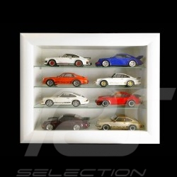 Wall showcase for 8 to 60 Porsche models scale 1/43 1/24 1/18