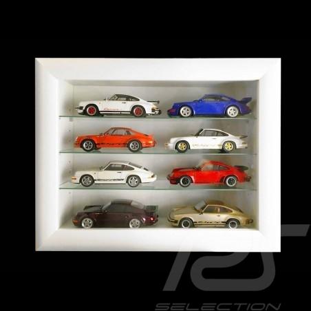 Wandvitrine für 8 bis 60 Porsche miniature 1/43 1/24 1/18