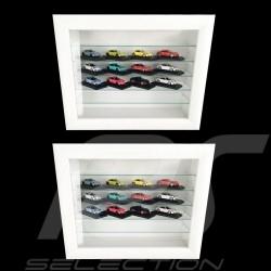 Set de 2 vitrines murales wall showcases Wandvitrine pour 16 à 120 miniatures Porsche à l'échelle 1/43 1/24 1/18