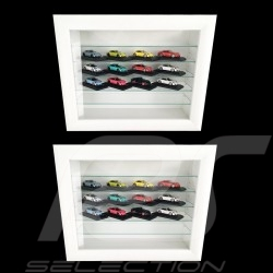 Set of 2 wall showcases for 16 to 120 Porsche models scale 1/43 1/24 1/18