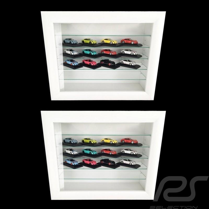 Set De 2 Vitrines Murales Pour 16 A 120 Miniatures Porsche A L