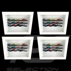 Set de 4 vitrines murales pour 32 à 240 miniatures Porsche à l'échelle 1/43 1/24 1/18