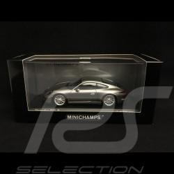 Porsche 911 R type 991 2016 argent Rhodium métallisé Rhodium Silver metallic black Rhodium Silber metallic schwarze bandes latér