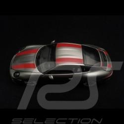 Porsche 911 R type 991 2016 argent Rhodium métallisé Rhodium Silver metallic red stripes Rhodium Silber metallic rote Streifen b