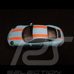 Porsche 911 R type 991 2016 bleu gulf bandes oranges gulf blue orange stripes gulfblau orange Streifen 1/43 Minichamps 41306622