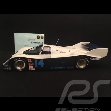 Porsche 962 IMSA vainqueur winner sieger Daytona 1986 n° 14 Holbert Racing Löwenbrau 1/18 Norev 187408