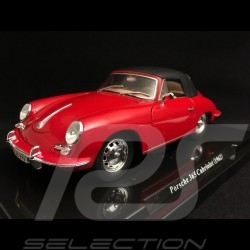 Porsche 356 Cabriolet 1.6 Super 90 1962 rouge red rot 1/24 Atlas 124041