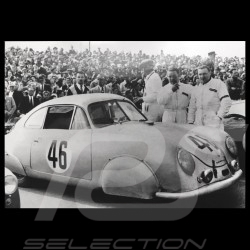 Carte postale Postcard Postkarte Porsche 356 SL Veuillet Mouche  24h du Mans 1951 Noir et blanc Black and white Schwarz-weiss 10