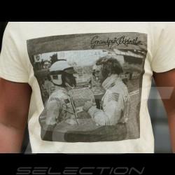 T-shirt Steve McQueen conversation Unterhaltung Le Mans crème cream creme - homme men Herren