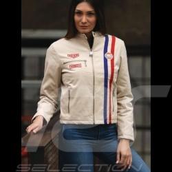 Veste Jacket Jacke Gulf Steve McQueen Le Mans coton beige - femme Women Damen