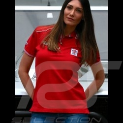 Polo Shirt Gulf Spirit of Racing rouge red rot - femme women Damen