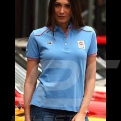 Polo Shirt Gulf Spirit of Racing bleu cobalt blue cobaltblau - femme women Damen