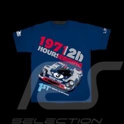 T-Shirt Porsche 917 K vainqueur 12h Sebring 1971 bleu marine - homme men herren winner sieger navy blue marineblau