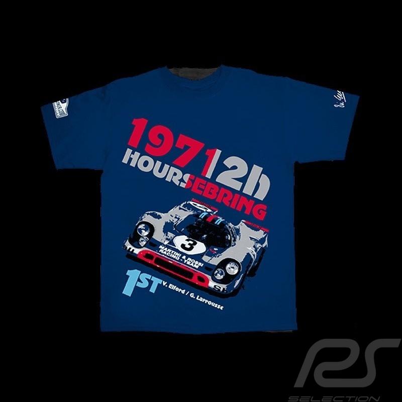 T-shirt Porsche 917 K winner 12h Sebring 1971 navy blue - men