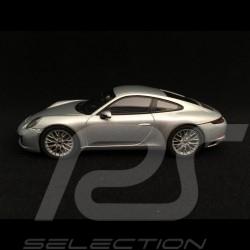 Porsche 911 type typ 991 Carrera 4S coupé ph II 2017 gris rhodium grey grau 1/43 Herpa 071055