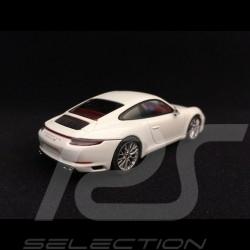 Porsche 911 type 991 Carrera 4S coupé ph II 2017 blanc white weiß 1/43 Herpa 071048