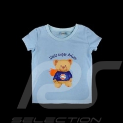 T-Shirt Gulf ourson teddy bear teddybär bleu blue blau - enfant kids kinder