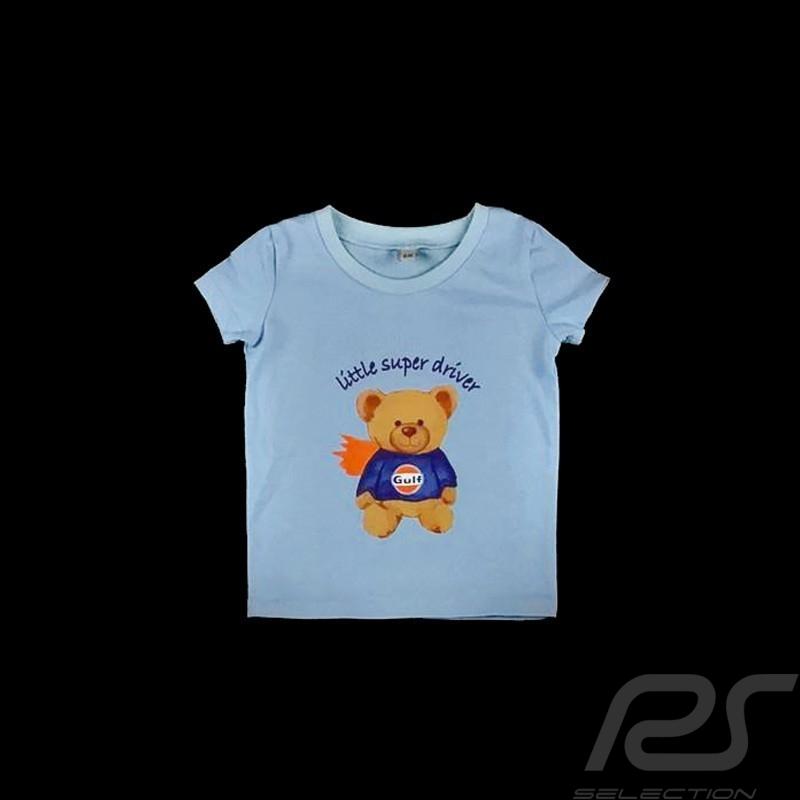 5ae222ec14a0 T-Shirt Gulf teddy bear blue - kids - Selection RS