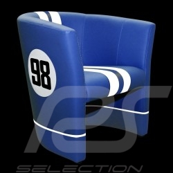 Fauteuil Chair Stuhl cabriolet Racing Inside n° 98 bleu blue blau Cobra racing / blanc white weiß