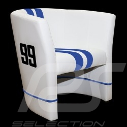 Cabriolet chair Racing Inside n° 99 Viper racing white / blue