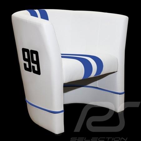 Cabrio Stuhl Racing Inside n° 99 Viper racing weiß / blau