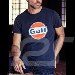 T-Shirt Gulf bleu marine navy blue marineblau homme men Herren